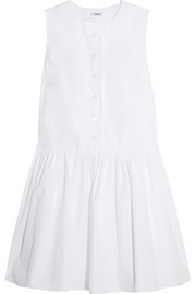 Miu Miu Cotton-poplin mini dress