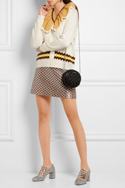 Miu Miu Ruffled-collar cable-knit wool sweater
