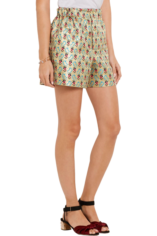 Miu Miu Floral-jacquard shorts