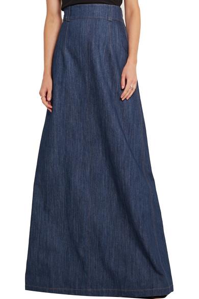 Miu Miu | Denim maxi skirt | NET-A-PORTER.COM