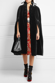Prada Cotton-trimmed velvet cape
