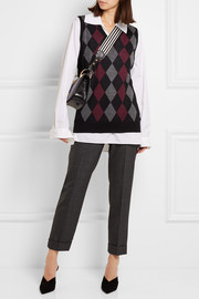 Argyle wool top