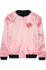 Cash reversible embroidered silk-satin jacket