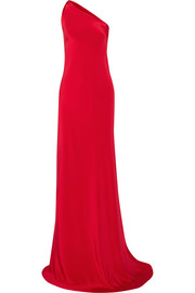 Josefina one-shoulder silk-satin gown