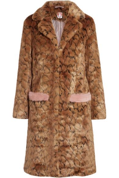 7e0f4c17e6 Shrimps. Claude leopard-print faux fur coat