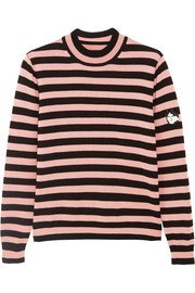 Eric appliquéd striped wool sweater