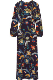 Maje Printed crepe maxi dress