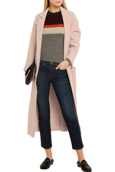Maje | Boiled wool coat | NET-A-PORTER.COM