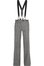 Prince of Wales check wool flared pants