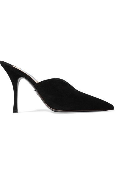 Prada Suede mules buy cheap latest collections fashionable sale online z6558
