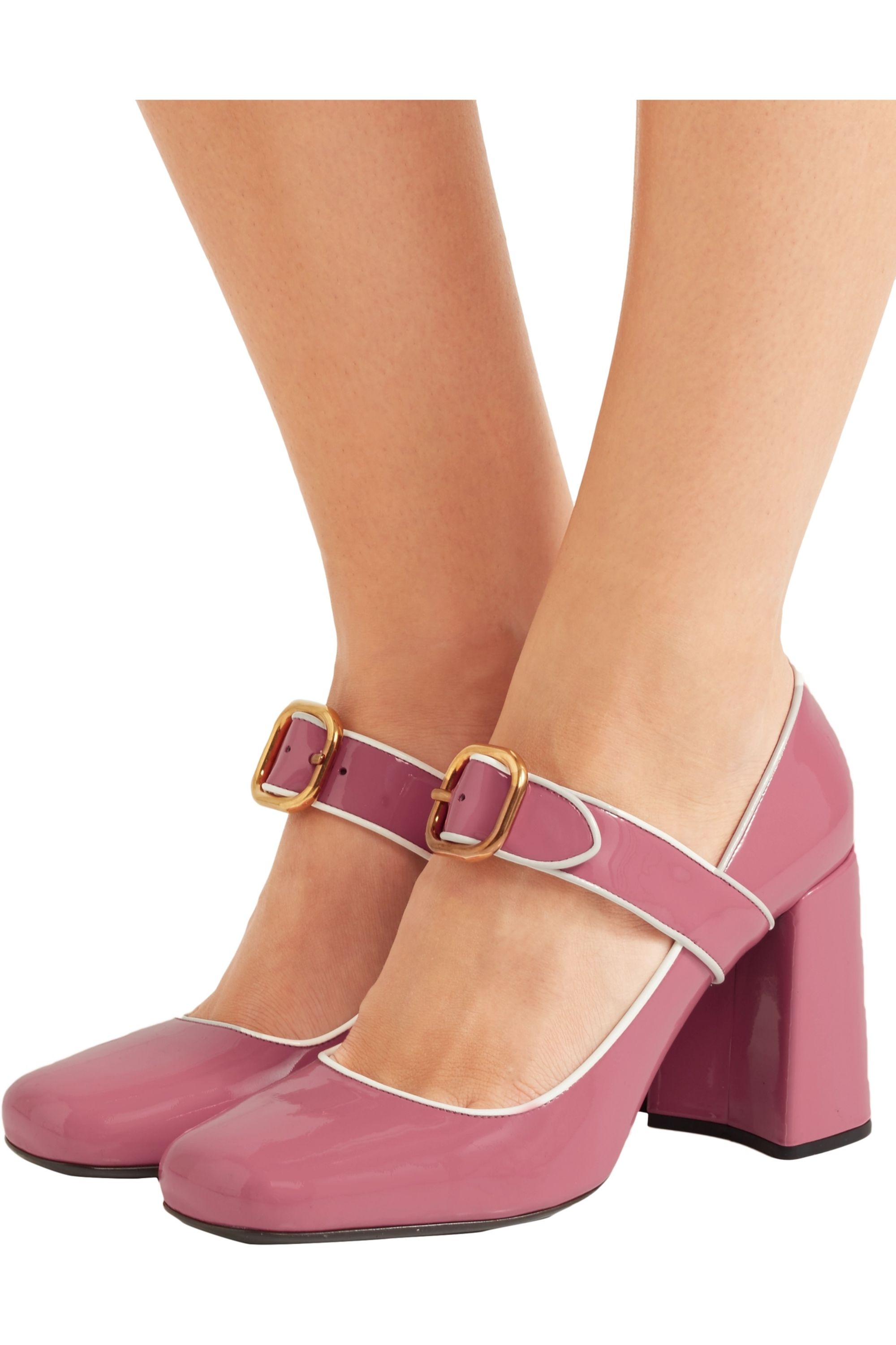 Baby pink Patent-leather Mary Jane
