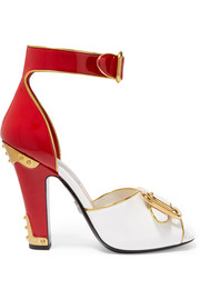 Prada Embellished patent-leather sandals