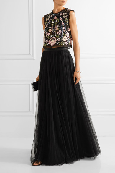 cheap for whole family release date: Tulle maxi skirt