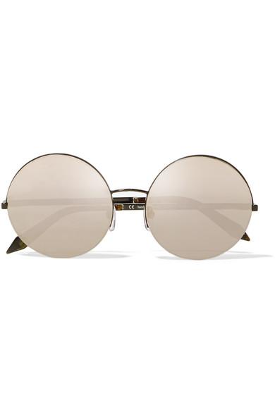 b17451db949f Victoria Beckham. Supra round-frame metal mirrored sunglasses
