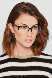 Victoria Beckham D-frame acetate and metal optical glasses