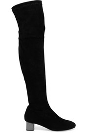 Robert Clergerie + Self-Portrait suede over-the-knee boots