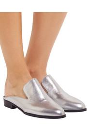 Robert Clergerie Alicel metallic leather slippers