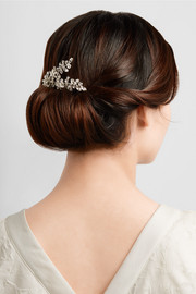 Elissa rhodium-plated Swarovski crystal hair slide