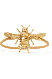 Bee gold-tone hair tie