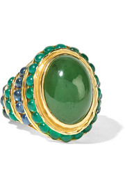 Percossi Papi Gold multi-stone ring