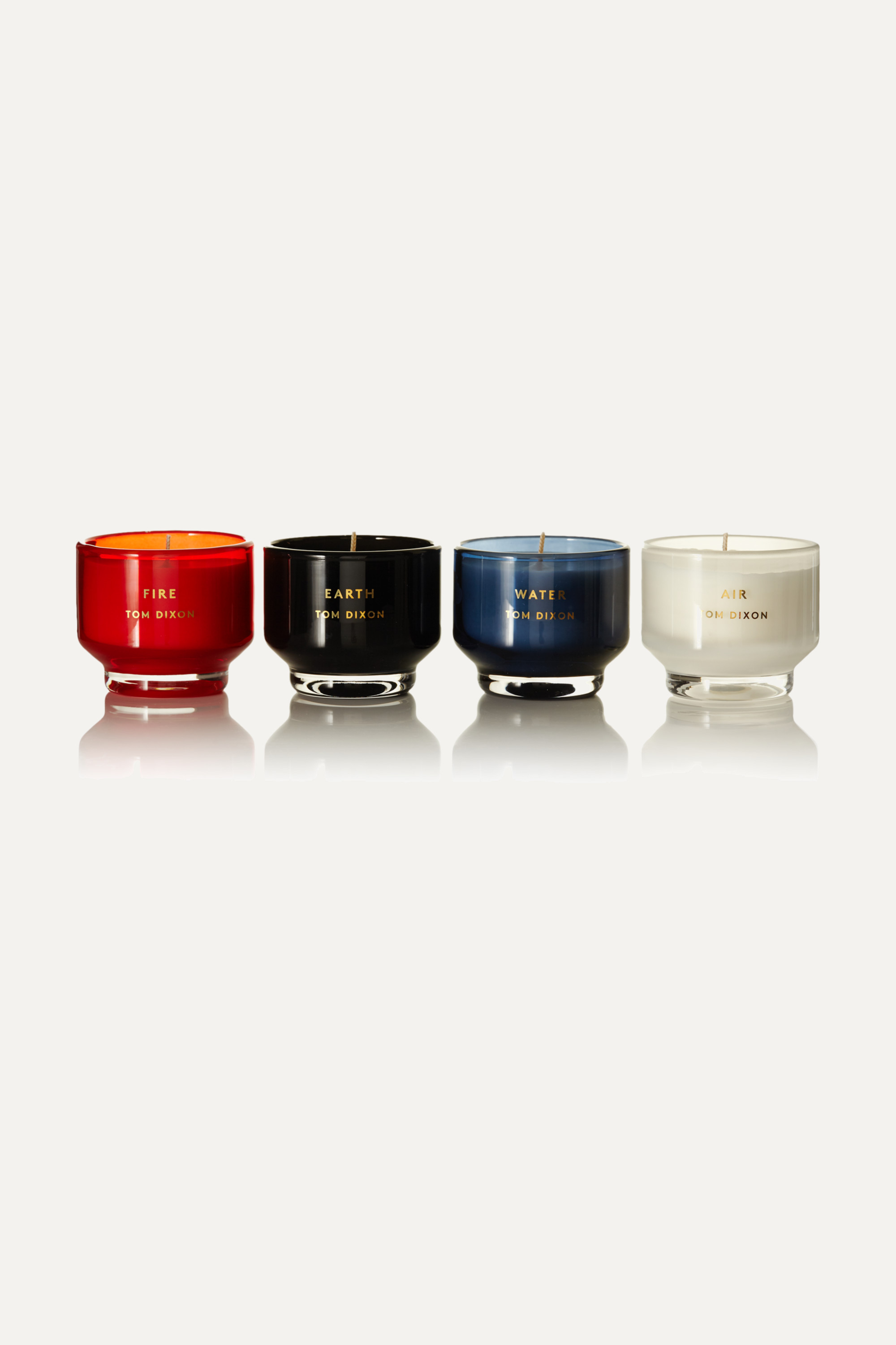 Tom Dixon Elements set of four scented candles, 120g