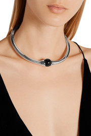 Sophie Buhai Vienna silver and onyx choker