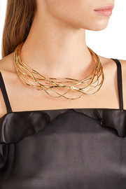 Ariane gold-plated choker