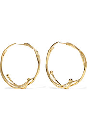 Ariane gold-plated hoop earrings
