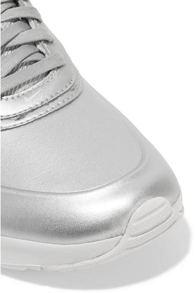 52e291bfe2 Nike | Air Max Thea metallic faux leather sneakers | NET-A-PORTER.COM