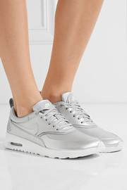 Air Max Thea metallic leather sneakers