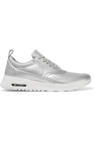 Air Max Thea metallic faux leather sneakers