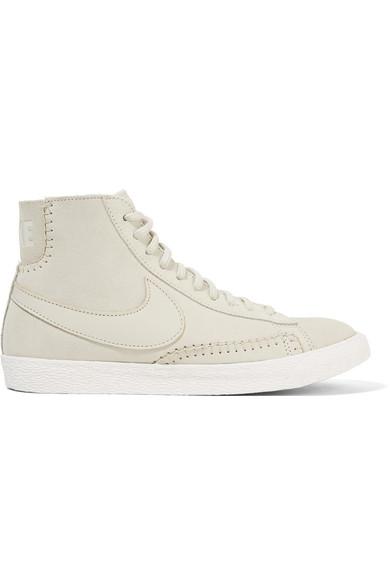Nike Blazer Mi Daim Et Peau De Mouton Chaussures De Sport Haut-dessus Dor