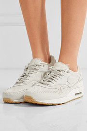 Nike Air Max 1 Sherpa suede and shearling sneakers