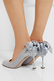 Miu Miu Bow-embellished satin pumps