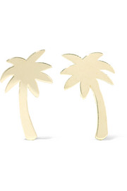 Mini Palm Tree 18-karat gold earrings