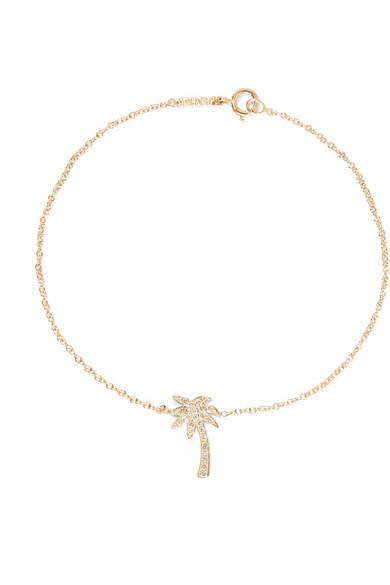Jennifer Meyer - Mini Palm Tree 18-karat Gold Diamond Bracelet
