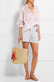 Zimmermann Zephyr printed cotton blouse