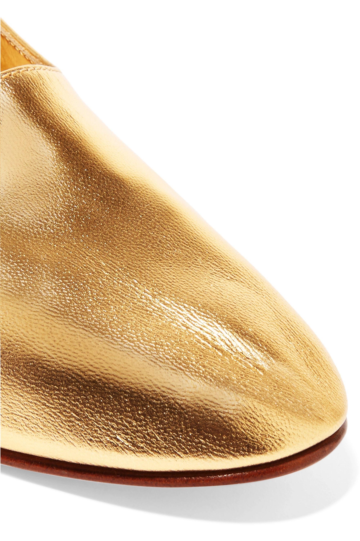 Martiniano High Glove metallic leather pumps