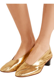 High Glove metallic leather pumps