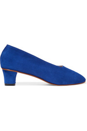 High Glove suede pumps