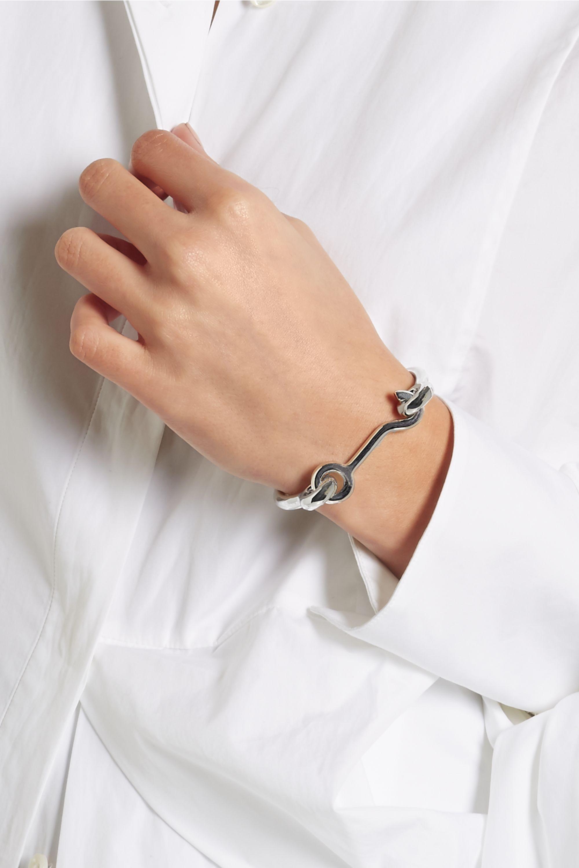 Eddie Borgo Door Latch silver-plated bracelet