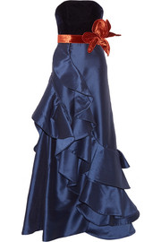 Grace Kelly ruffled taffeta and velvet gown