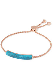 Monica Vinader Rose gold-plated turquoise bracelet