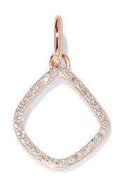 Riva Kite rose gold-plated diamond pendant