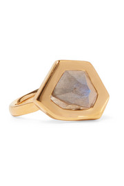Monica Vinader Petra gold-plated labradorite ring
