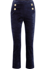 Pierre Balmain Stretch-velvet skinny pants