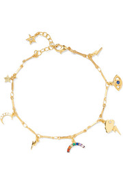All Weather gold-plated charm bracelet
