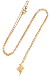 Storm gold-plated necklace
