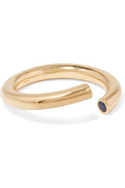 IAM by Ileana Makri Pipe gold-plated crystal ring