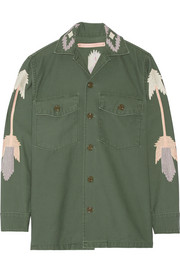 East at Dawn embroidered cotton-canvas jacket